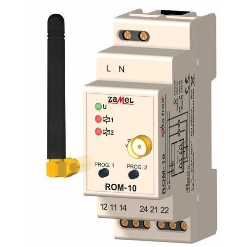 Radiowy odbiornik 2-kanałowy Exta Free ROM-10 modułowy na szynę EXF10000044 Zamel
