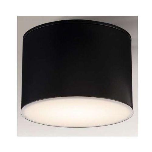 Downlight lampa sufitowa suwa 1174/gx53/cz natynkowa oprawa plafon okrągły czarny marki Shilo