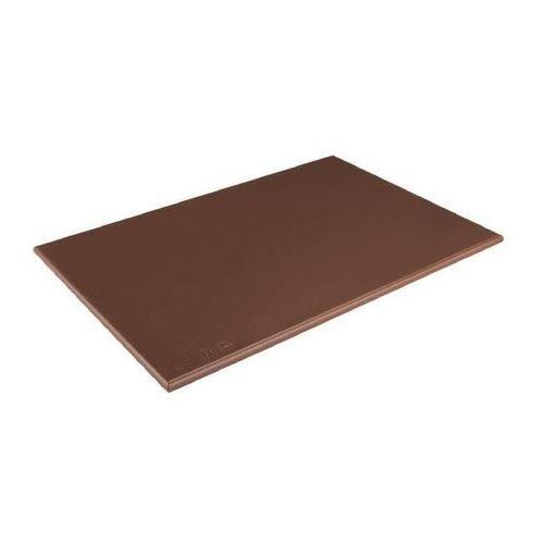 Outlet - deska do krojenia hdpe   brązowa   450x300x25mm marki Hygiplas