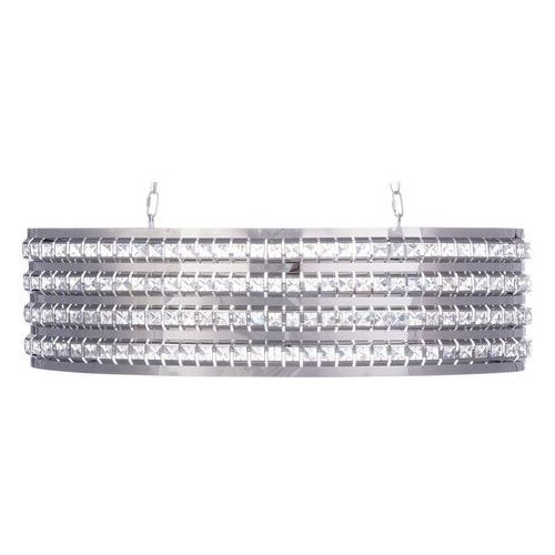 Lampa wisząca z kryształami srebrna cavone marki Beliani