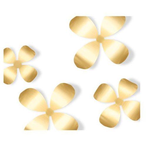 Umbra Dekoracja ścienna  metal wallflower brass 9 części