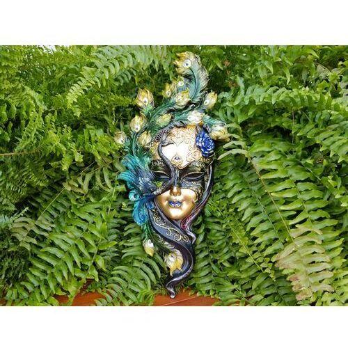 Veronese Pięknie malowana maska wenecka z pawiem (wu74139vb)