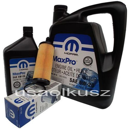 Olej 5w20 oraz oryginalny filtr chrysler 200 3,6 v6 2014- marki Mopar