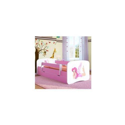Łóżko dziecięce z materacem WRÓŻKA ze SKRZYDEŁKAMI,biało-różowe
