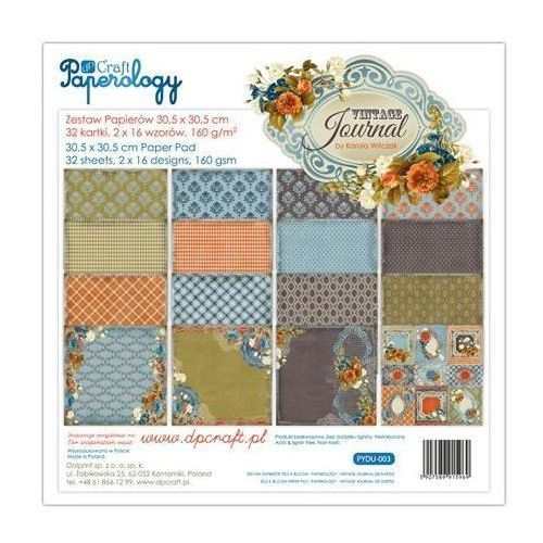 Dalprint Ozdobny papier vintage journal 30,5x30,5 cm - 32