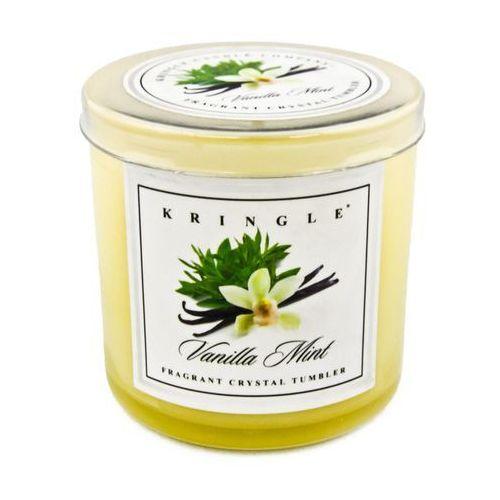Kringle candle Vanilla mint świeca zapachowa waniliowa mięta mała kolorowa szklanka 5oz, 141g, 1 knot