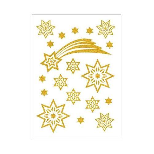 Naklejki HERMA Magic 3726 gwiazdy złote brokatowe