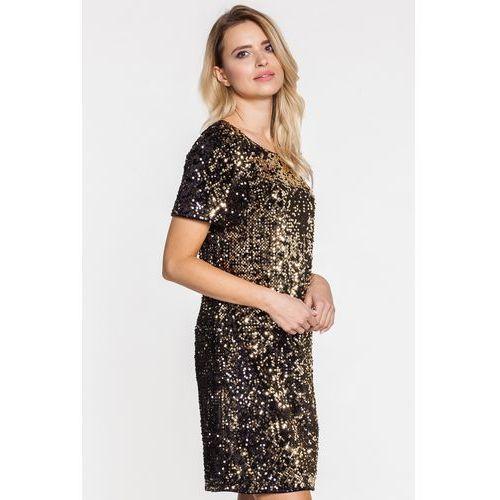 Cekinowa złota sukienka - Potis & Verso