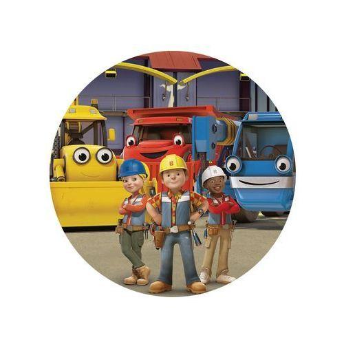 Dekoracyjny opłatek tortowy Bob Budowniczy - 20 cm - 2