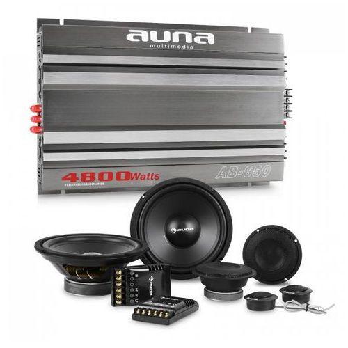 Auna cs-comp-8 kompletny zestaw głośników samochodowych z 6 -kanałową końcowką mocy & 6-kanałowa końcówka mocy marki Elektronik-star