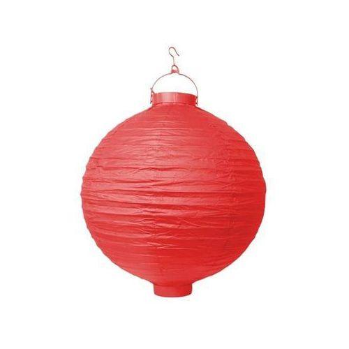 Party deco Świecący ogrodowy lampion papierowy 30 cm, czerwony, 1 szt.