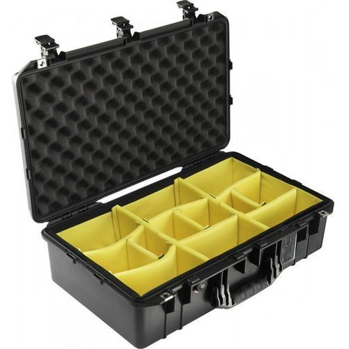 Pelican products, inc. Peli air 1555 z przegródkami na rzepy, wodoodporna, pancerna skrzynia transportowa
