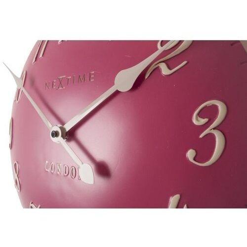 Zegar ścienny Nextime London Arabic różowy (3084 RZ)