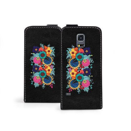 Etuo flip fantastic Samsung galaxy s5 mini - etui na telefon flip fantastic - kwiaty boho