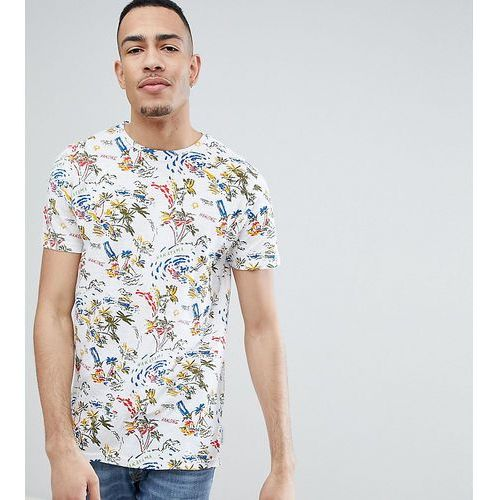 tall t-shirt with hawaiian print - white marki Bellfield