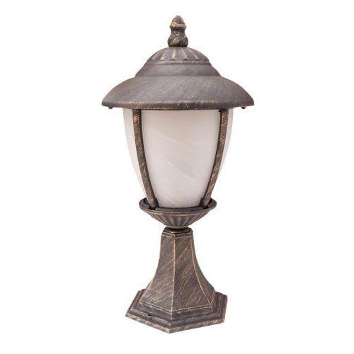 Lampa stołowa zewnętrzna ogrodowa Rabalux Madrid 1x60W E27 IP43 antyczne złoto/ biały 8478, 8478