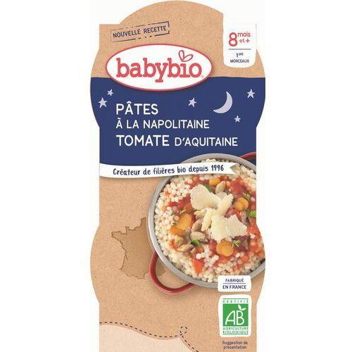 Babybio Danie makaron z pomidorami po neapolitańsku od 8 miesiąca bio 2x200 g