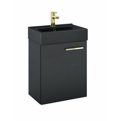 Elita szafka tiny black matt + umywalka 45 black matt 168300