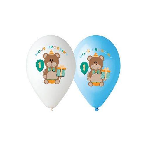 Twojestroje.pl Balon lateksowy moje 1 urodziny z misiem niebieski 30 cm 1szt (5901238630272)
