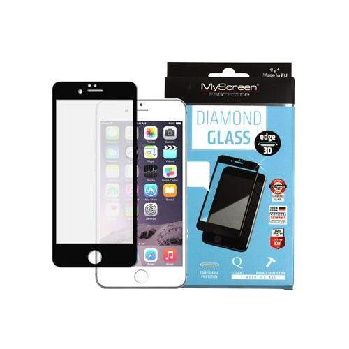 Myscreen protector Apple iphone 6s plus - szkło hartowane fullscreen glass - czarne