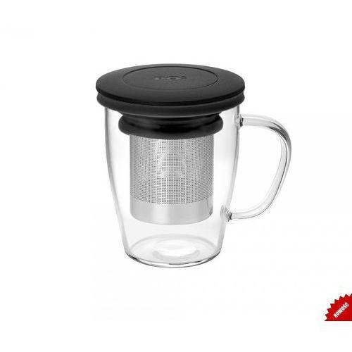 Kubek z zaparzaczem do herbaty 350 ml pao ming infuser (czarny) marki Po: