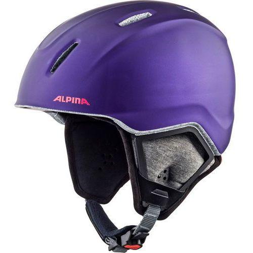 Alpina carat xt kask narciarski dzieci, royal-purple matt 54-58cm 2018 kaski narciarskie