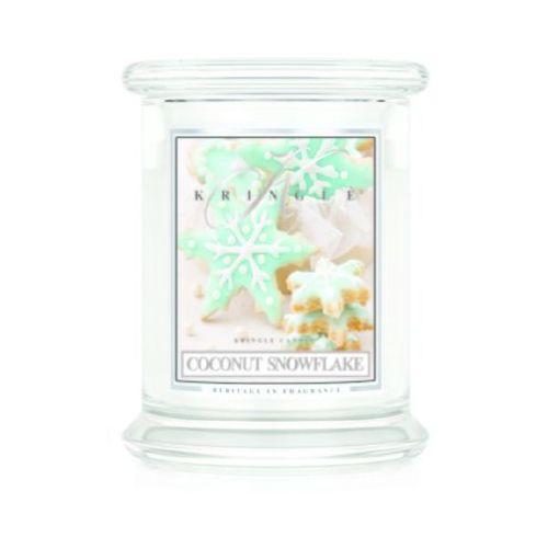 Coconut Snowflake świeca zapachowa Kringle Candle Kokosowe Gwiazdki słoik 8,5oz 240g