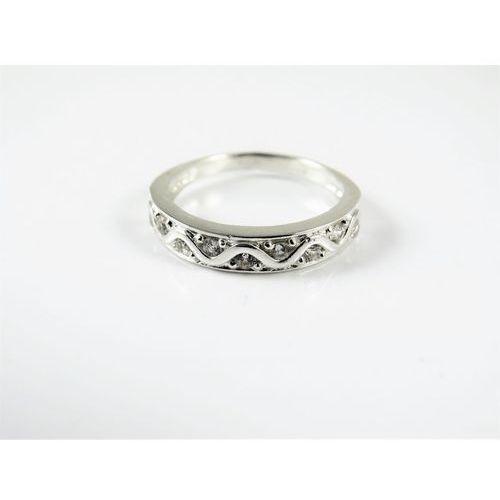Srebrny pierścionek 925 BIAŁE CYRKONIE r. 16