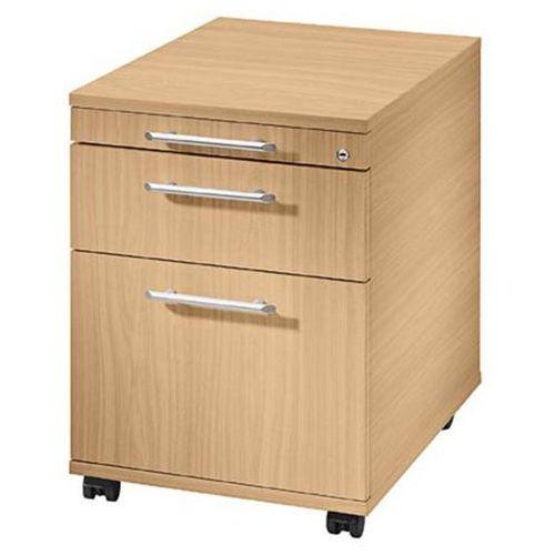 Kontener na kółkach, 1 szuflada na przybory, 1 szuflada na dokumenty, 1 kartotek