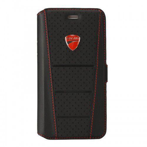 superbike d1 - etui skórzane z kieszeniami na karty iphone 8 / 7 / 6s / 6 (czarny) marki Ducati