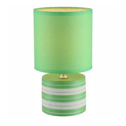 LAMPKA biurkowa LAURIE 21662 Globo abażurowa LAMPA stołowa IP20 okrągły paski zielony - produkt z kategorii- Lampy stołowe