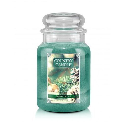 COUNTRY CANDLE ŚWIECA TINSEL THYME 680G