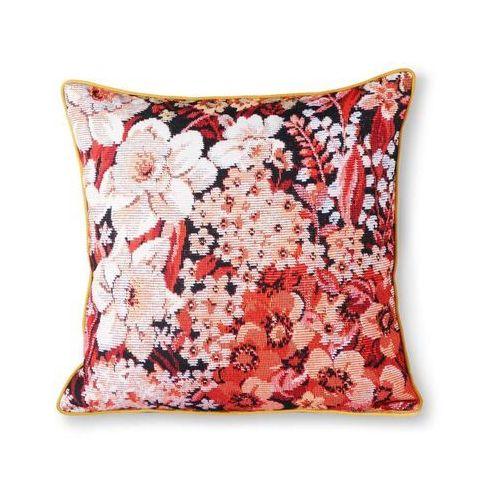 HKliving Poduszka z nadrukiem w kwiaty wielokolorowa (50x50) TKU2094