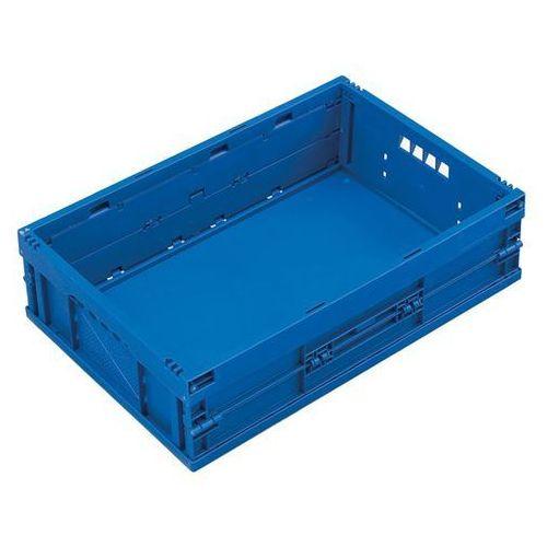 Pojemnik składany z polipropylenu, poj. 33 l, bez pokrywy, niebieski. Z poliprop