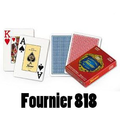 Karty do pokera i black-jacka Fournier 818 powlekane JI