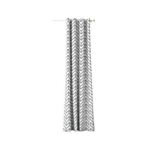 Zasłona BLOGGY szara 140 x 250 cm na przelotkach (5901443111603)