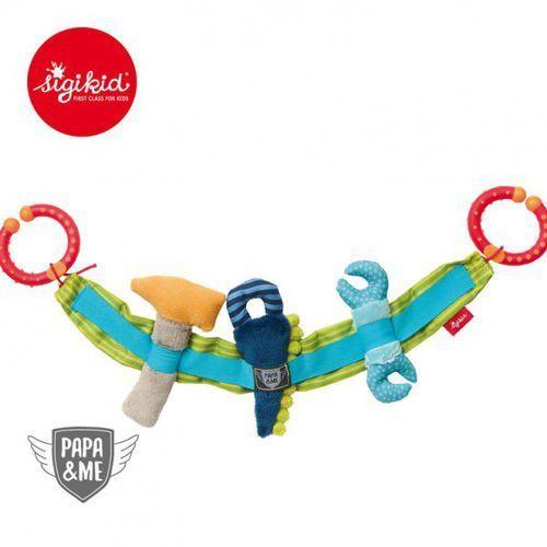 Sigikid miękki łańcuch do wózka narzędzia z grzechotką i szeleszczącą folią papa&me