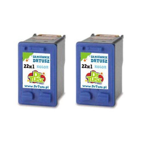 Tusze Zamienniki 22 Kolorowe (dwupak) do HP Deskjet F380 - DARMOWA DOSTAWA w 24h