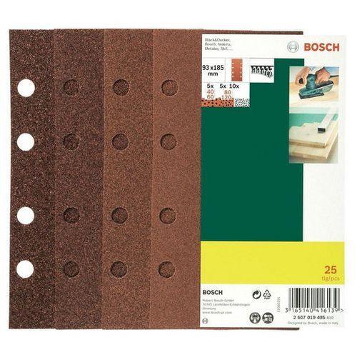 Zestaw papierów ściernych BOSCH Promoline 93 x 185 mm (25 elementów)