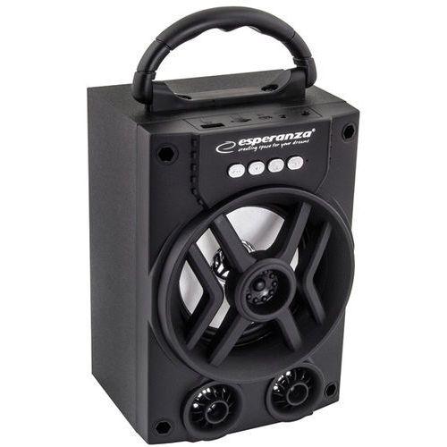 Głośnik Bluetooth Esperanza Rhythm EP130 FM LED czarny (5901299939765)