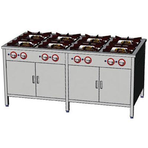 Egaz Kuchnia gazowa 8-palnikowa z dwoma szafkami  tg 840.ii