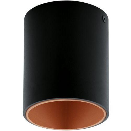 Eglo Downlight lampa sufitowa polasso 94501 plafon oprawa natynkowa led 3w ip20 okrągła tuba czarna (9002759945015)