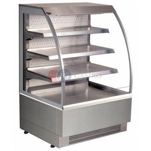 Lada/witryna cukiernicza chłodnicza otwarta z drzwiami uchylnymi 600x800x1360 Vienna 60/CH/O/DU