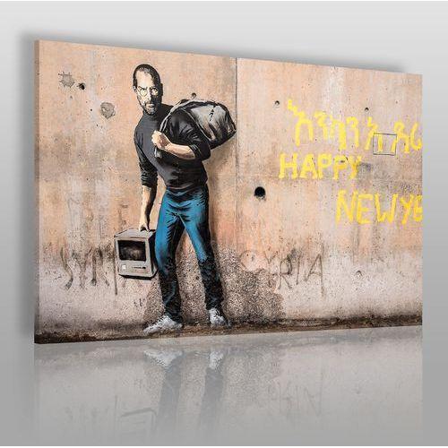 Banksy - steve jobs - nowoczesny obraz na płótnie marki Vaku-dsgn