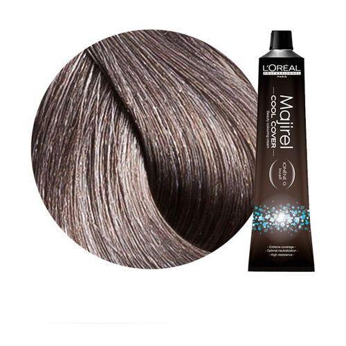 Loreal majirel cool cover | trwała farba do włosów o chłodnych odcieniach - kolor 7.11 blond popielaty głęboki - 50ml