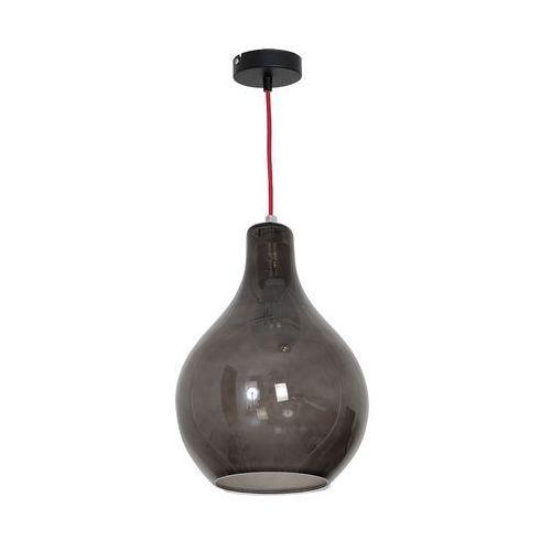 Luminex Lampa wisząca single glass 7582 lampa sufitowa 1x60w e27 czarny/ czerwony