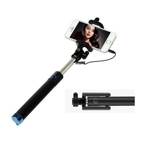 Uniwersalny uchwyt Selfie Stick do aparatów i smartfonów Monopod - Niebieski