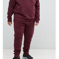 New look plus joggers in burgundy - red