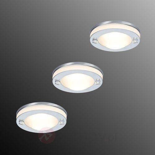Lampa wpuszczana deco, 3-elem., ip65 marki Paulmann