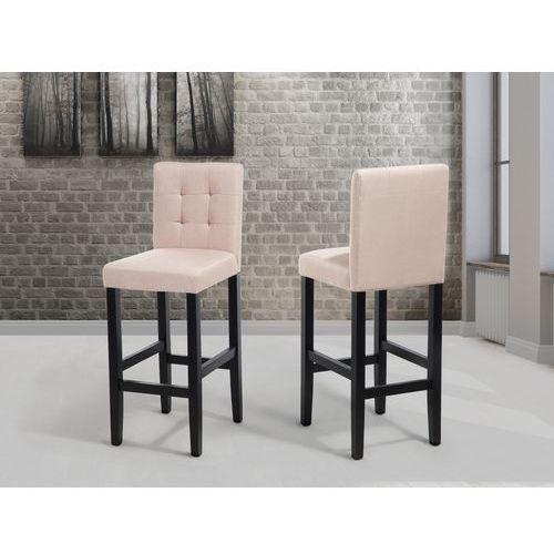 Hoker beżowy - krzesło - do jadalni - do kuchni - tapicerowany - madison od producenta Beliani